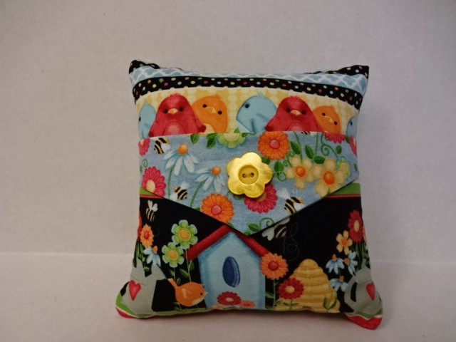 Birdhouses and Birds Decorative Pillow