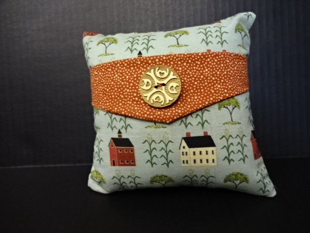 Country Houses Decorative Pillow